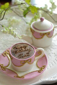 シュガーケーキ ティーカップケーキ ティーポットケーキ テーブルウエアケーキ リボンガーランド