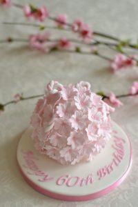 シュガーケーキ 桜 花手毬 ケーキ 組紐