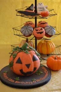 シュガーケーキ ハロウィン ジャックオランタン かぼちゃ型ケーキ カップケーキ クッキー