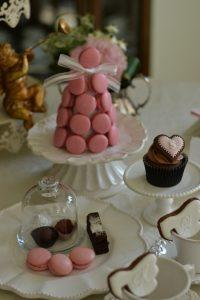 シュガーーケーキ バレンタイン 天使 エンジェル パーティー マカロンタワー カップケーキ